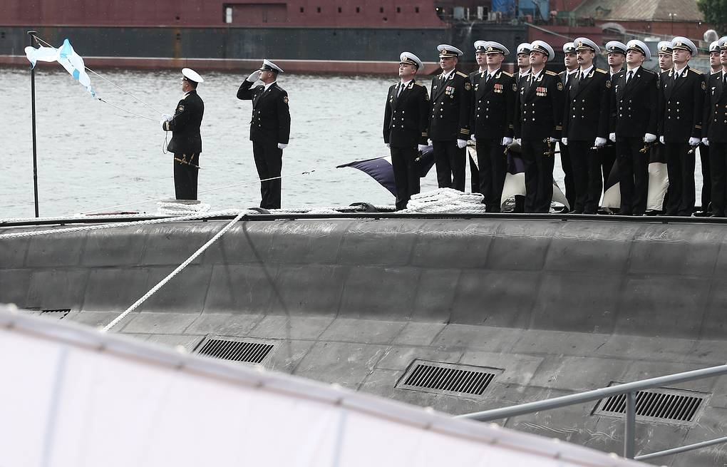 Commissioning of diesel-electric Novorossiysk submarine, 636.3 Varshavyanka project ITAR-TASS/Denis Vyshinsky