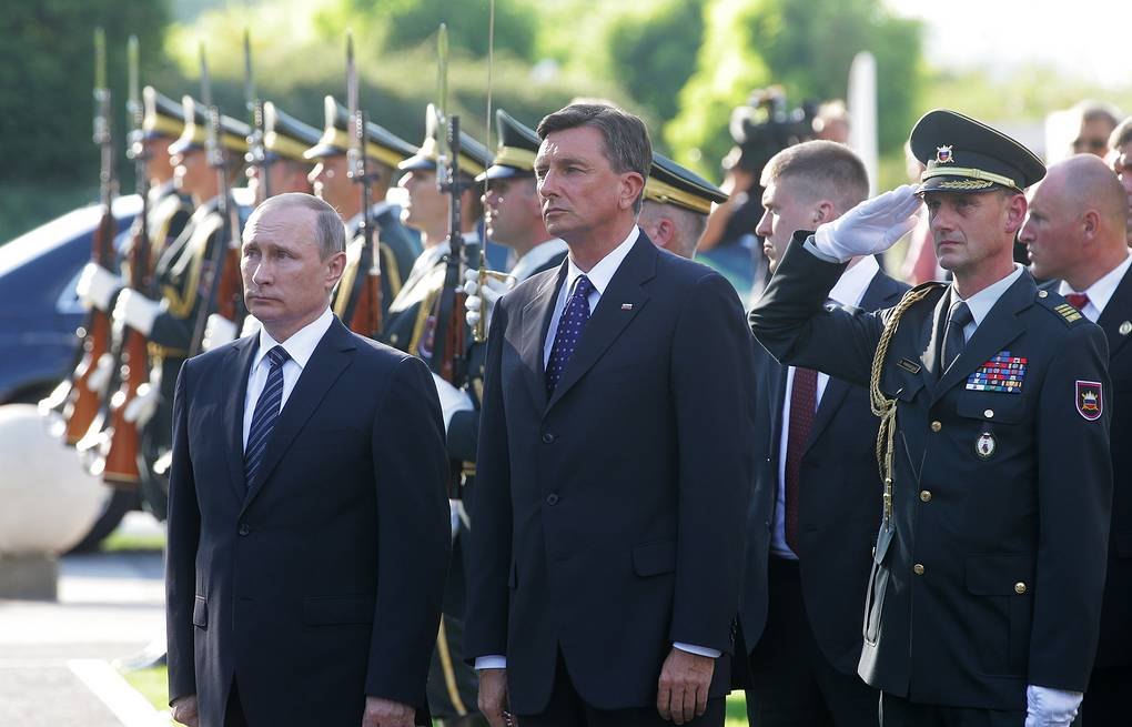 Russian, Slovene Presidents unveil monument to Russian soldiers who