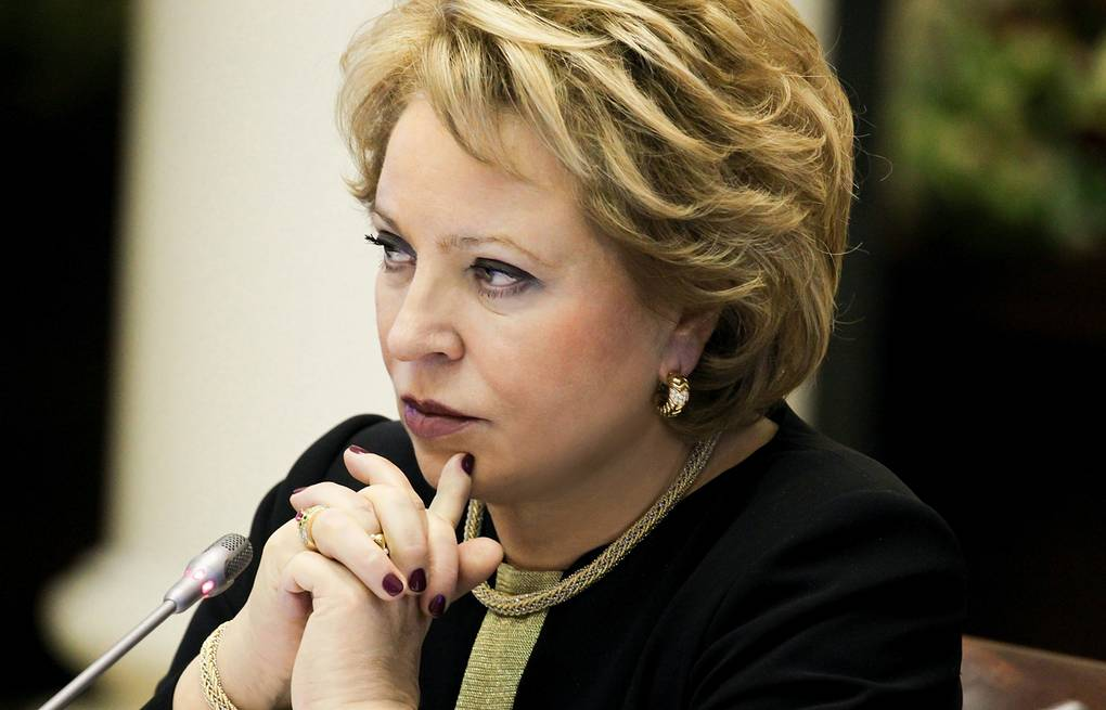 Valentina Matviyenko Federation Council press service/TASS