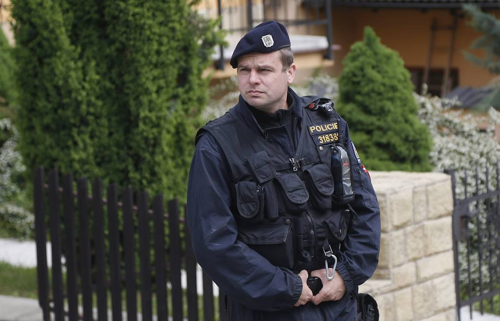 Czech police officer AP Photo/Petr David Josek