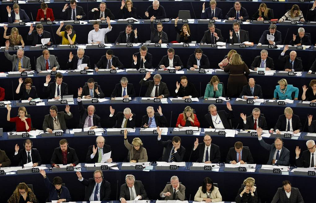 Members of the European Parliament  AP Photo/Christian Lutz