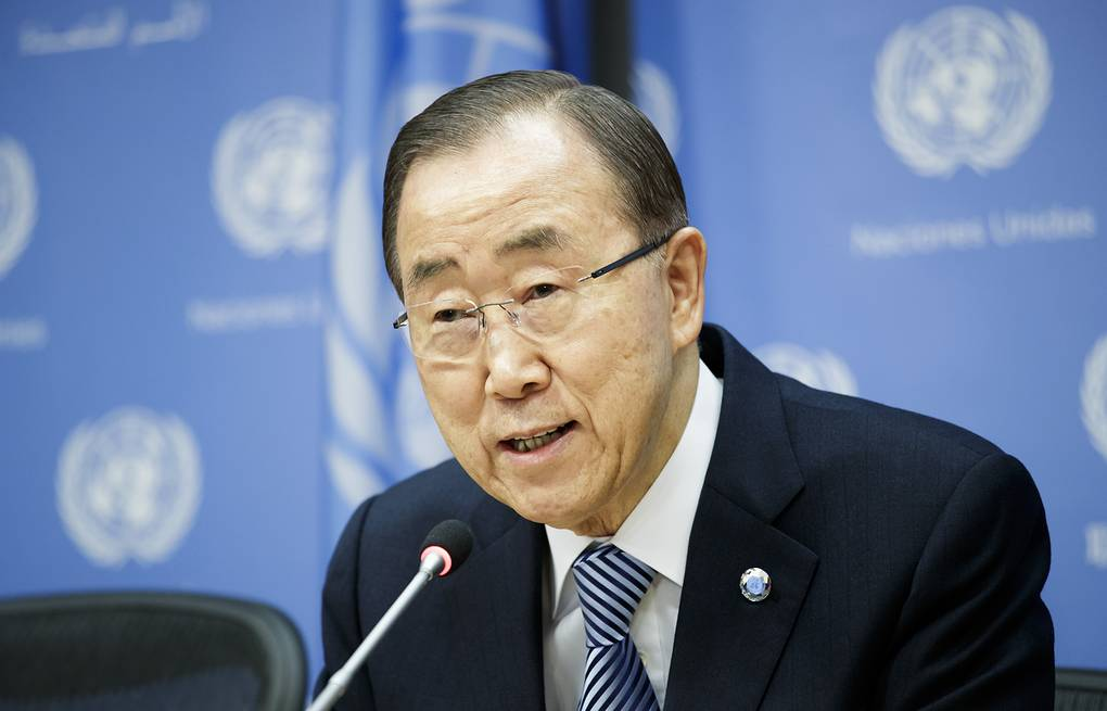 United Nations Secretary-General Ban Ki-moon  EPA/JUSTIN LANE