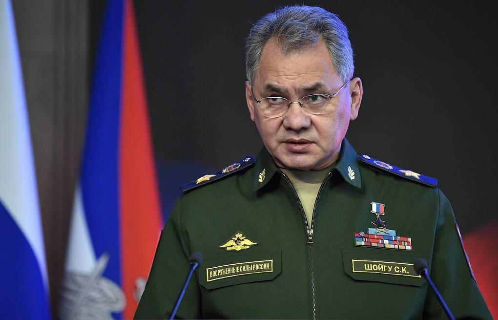 Russia's Defense Minister Sergey Shoigu Alexei Nikolsky/Russian Presidential Press and Information Office/TASS