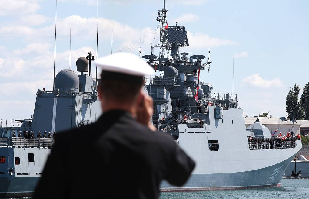 Black Sea Fleet's frigate The Admiral Grigorovich Alexandr Karpushkin/TASS