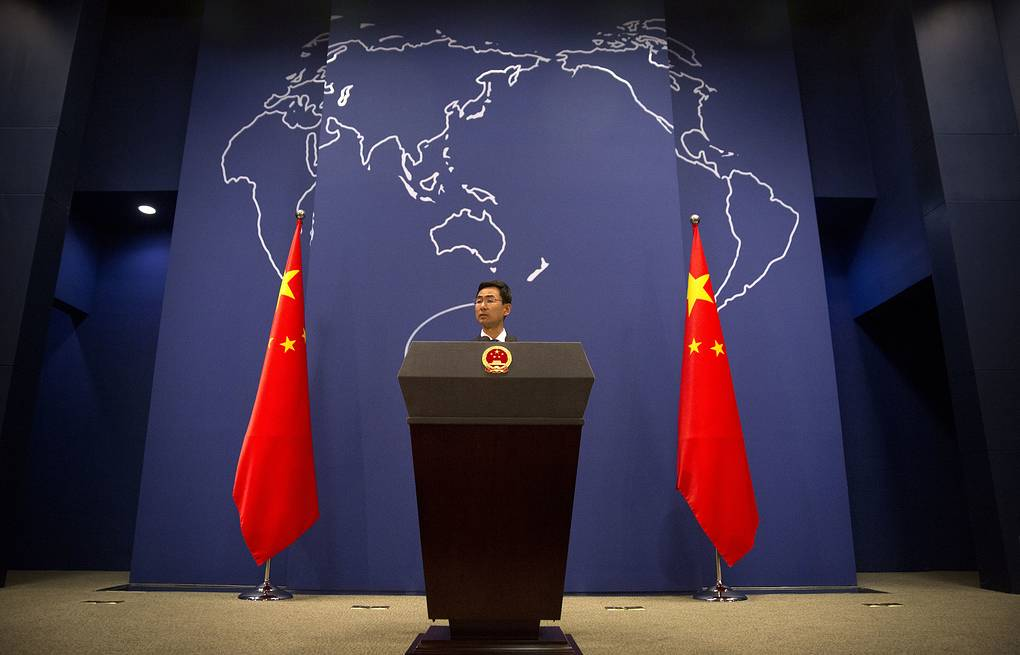 Chinese Foreign Ministry spokesman Geng Shuang AP Photo/Mark Schiefelbein