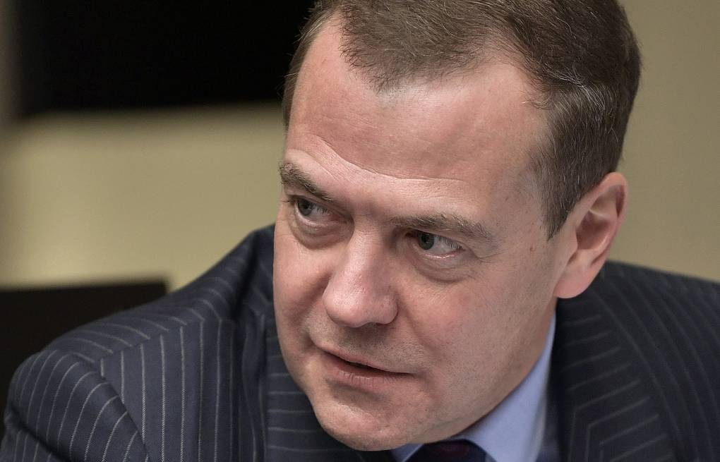 Russian Prime Minister Dmitry Medvedev Alexei Nikolsky/Russian Presidential Press and Information Office/TASS