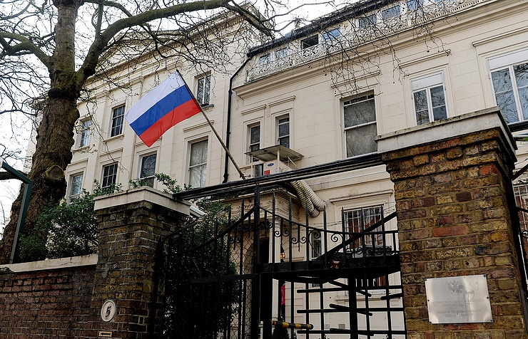 Russian Embassy in London  EPA/ANDY RAIN