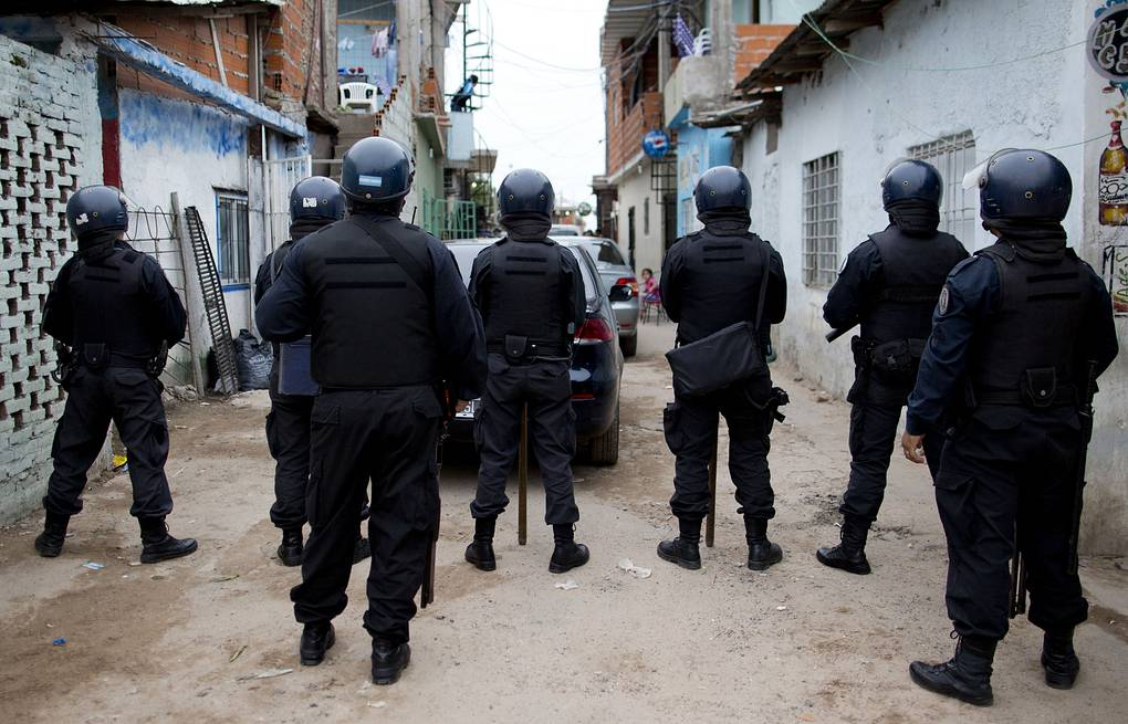 A drug raid in Buenos Aires, Argentina AP Photo/Natacha Pisarenko