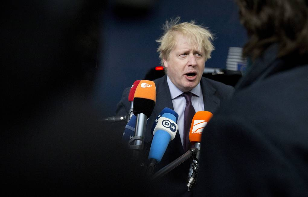 British Foreign Secretary Boris Johnson  AP Photo/Virginia Mayo