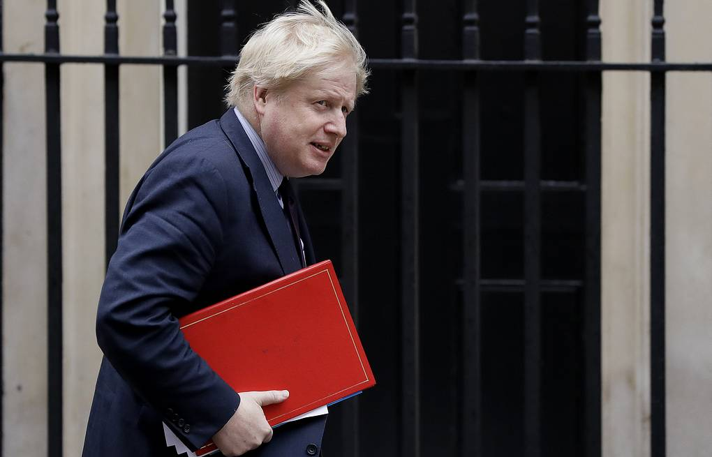 British Foreign Secretary Boris Johnson AP Photo/Kirsty Wigglesworth