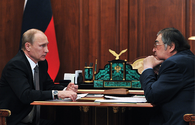 Vladimir Putin and Aman Tuleyev Mikhail Klimentyev/Press Service of the Russian President/TASS