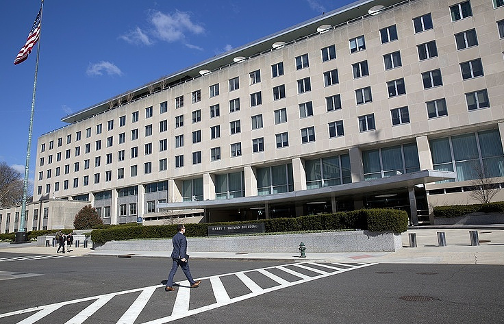 The US Department of State building in Washington  AP Photo/Pablo Martinez Monsivais