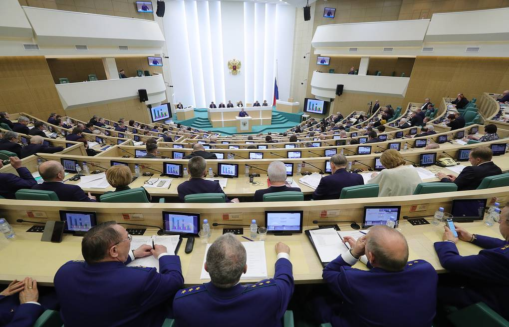 Federation Council, the upper house of the Russian parliament Sergei Bobylev/TASS