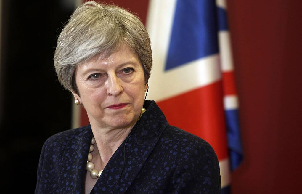 UK Prime Minister Theresa May  AP Photo/Boris Grdanoski