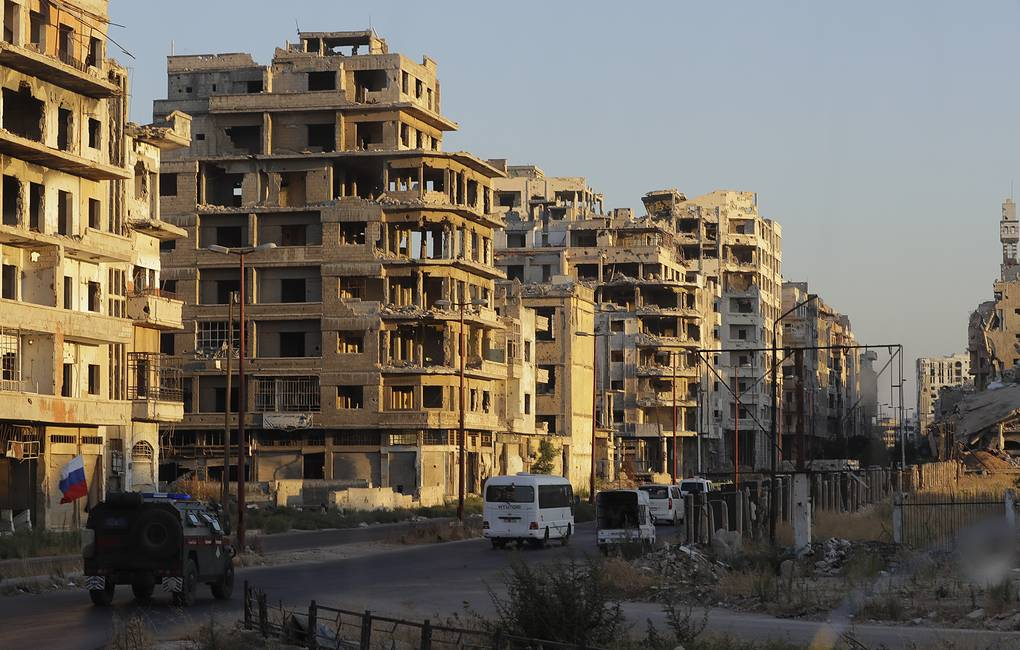 Buildings in the old city of Homs, Syria AP Photo/Sergei Grits