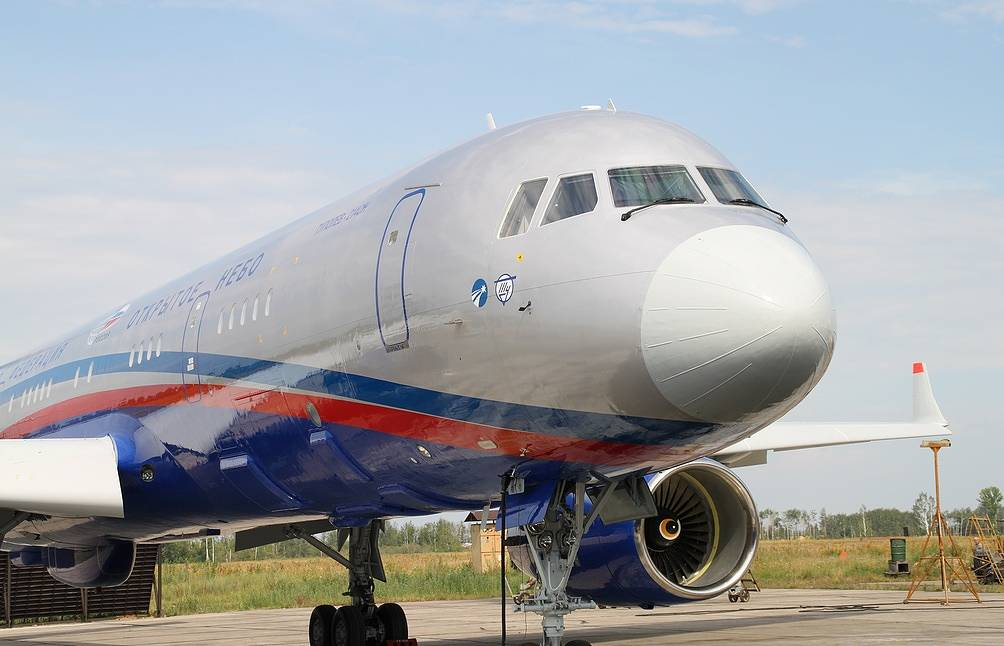 Tu-214ON surveillance plane Press service of the United Instrument Manufacturing Corporation