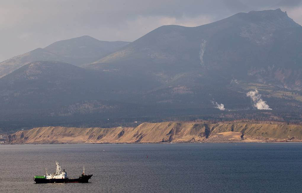Yuzhno-Kurilsk Bay on Kunashir Island, the southernmost one of the Kuril Islands  Sergei Krasnoukhov/TASS