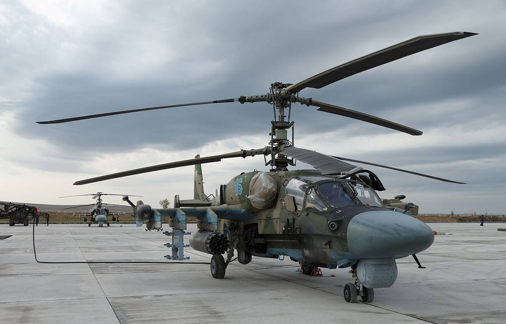 Ka-52 helicopter Vadim Savitsky/Russian Defense Ministry Press Office/TASS