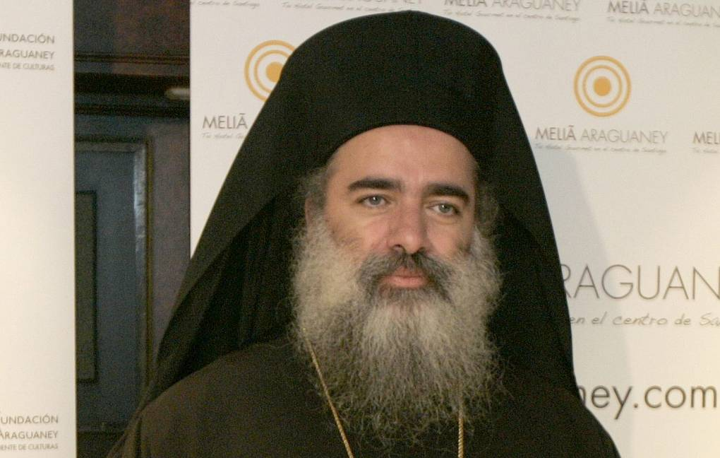 Archbishop Theodosios of Sebastia from the Greek Orthodox Patriarchate of Jerusalem EPA/XOAN REY