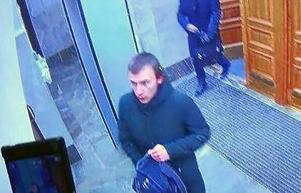 The teenager suspected of the Arkhangelsk FSB blast Video surveillance camera screen grab/The Russian Investigative Committee/TASS