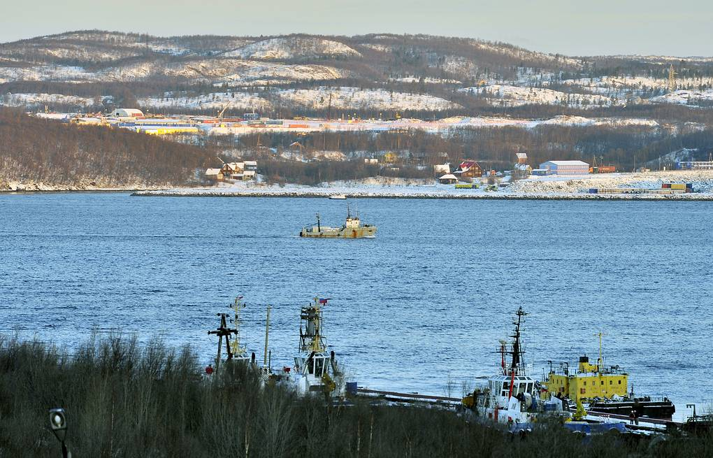 A view of the Kola Bay where the PD-50 floating dock sank  Lev Fedoseyev/TASS