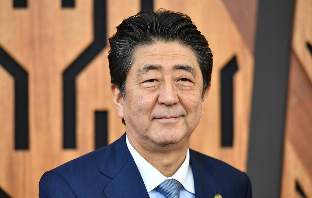 Japanese Prime Minister Shinzo Abe EPA-EFE/MICK TSIKAS AUSTRALIA AND NEW ZEALAND OUT