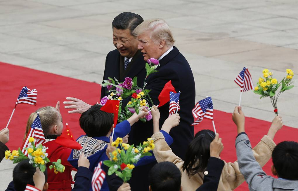 Chinese President Xi Jinping and  US President Donald Trump  AP Photo/Andy Wong