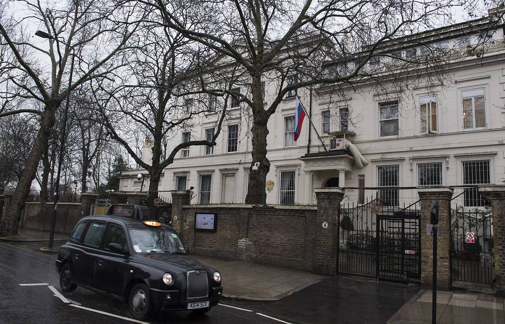 Russian embassy in London  EPA/WILL OLIVER