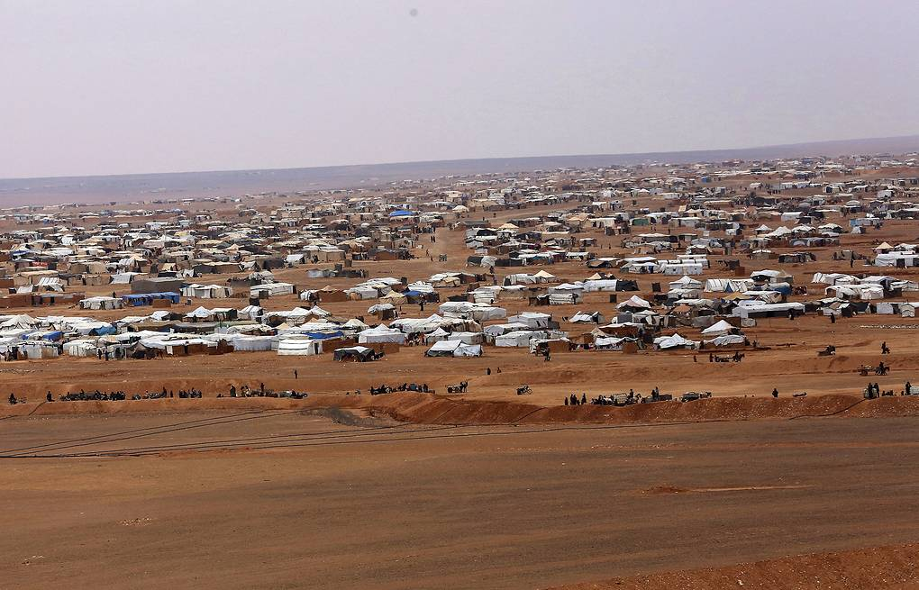 Rukban camp for displaced Syrians AP Photo/Raad Adayleh