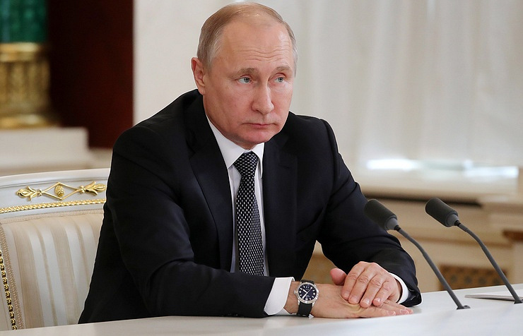 Russian President Vladimir Putin  Mikhail Klimentyev/Russian Presidential Press and Information Office/TASS