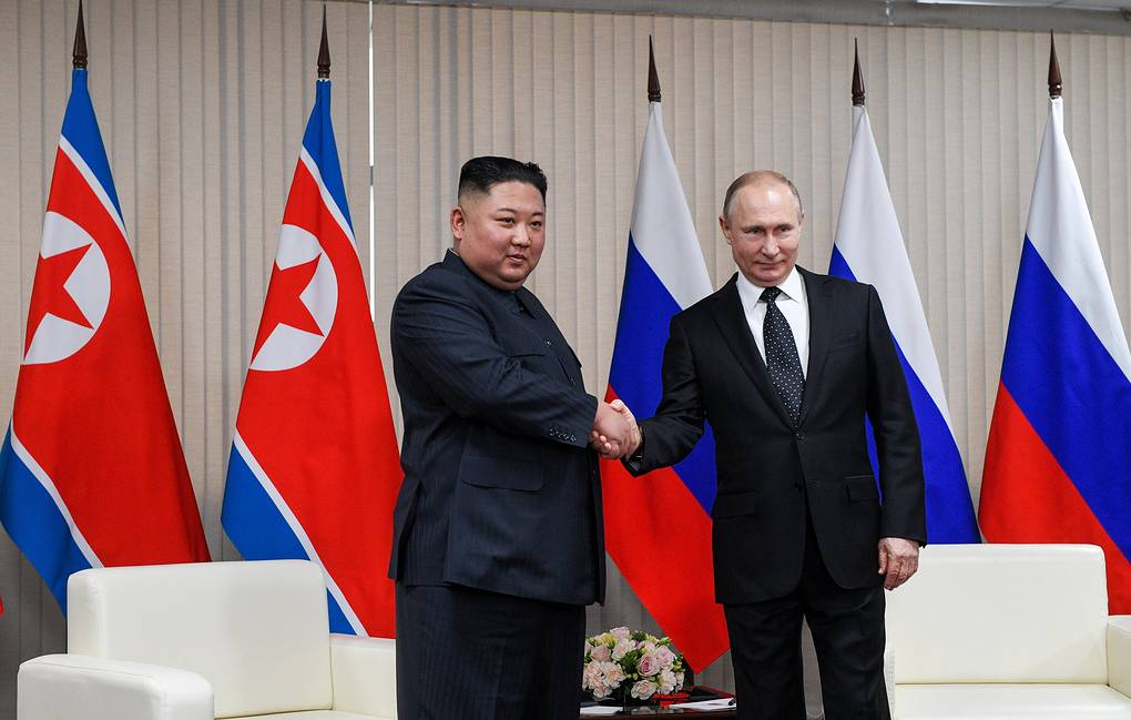 North Korean leader Kim Jong-un and Russian President Vladimir Putin Valery Melnikov/POOL/TASS