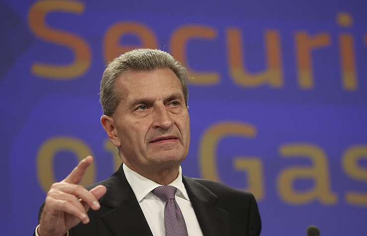 European Commissioner Guenther Oettinger  © EPA