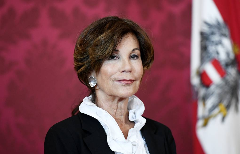 President of the Constitutional Court of Austria Brigitte Bierlein EPA-EFE/CHRISTIAN BRUNA