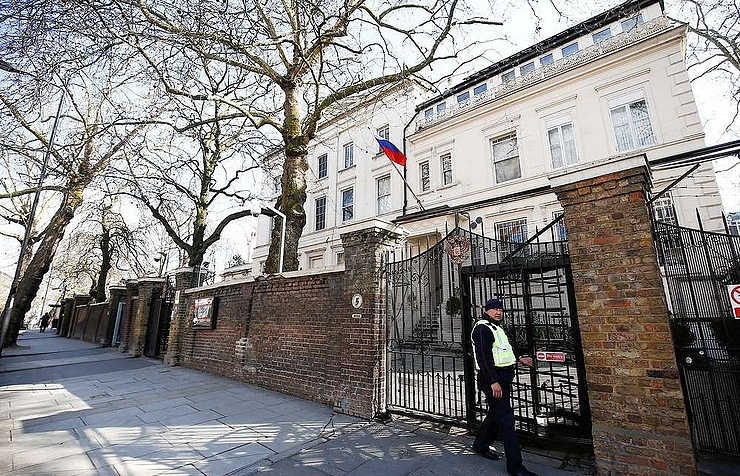 Russian embassy in London  REUTERS/Henry Nicholls