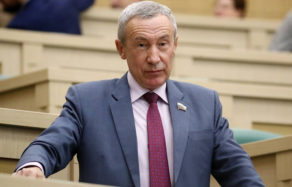 Head of the Federation Council's Interim Commission for Protecting State Sovereignty and Preventing Interference in Internal Affairs Andrei Klimov  Valery Sharifulin/TASS