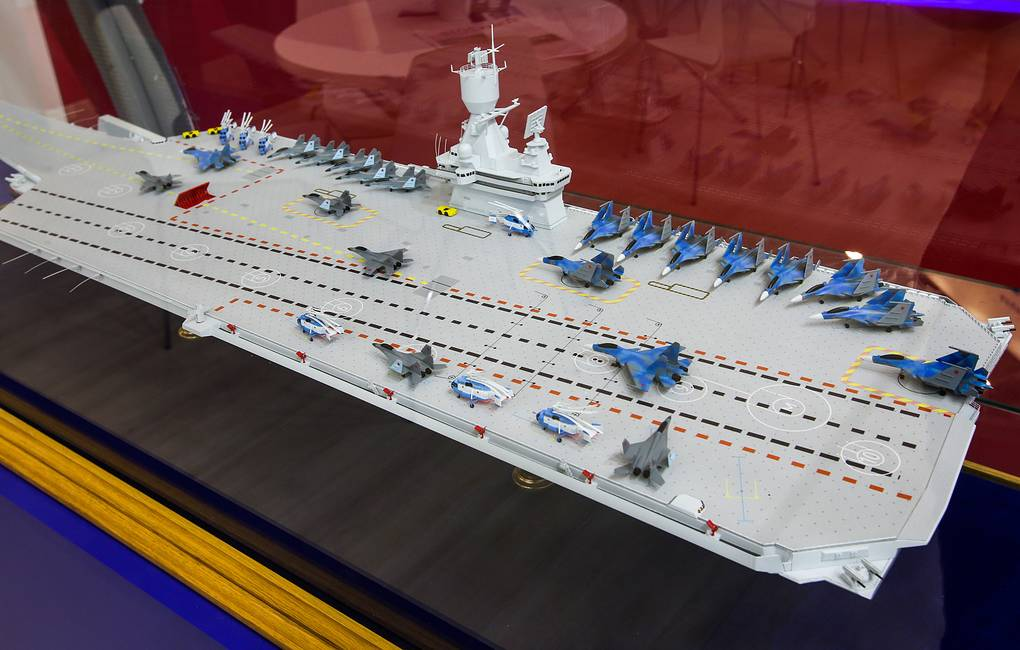Nuclear aircraft carrier scale model of Russia
