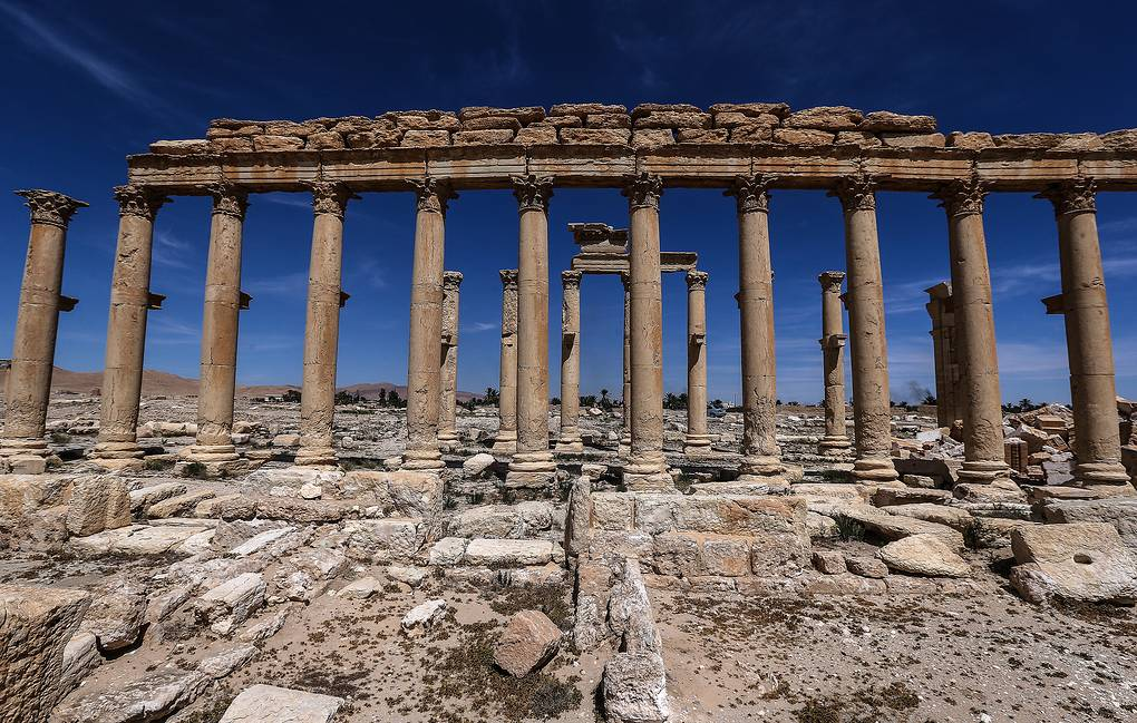 Palmyra, Syria, one week after it was recaptured by Syrian government army