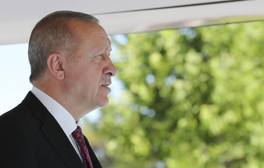 Turkish President Recep Tayyip Erdogan Presidential Press Service via AP, Pool