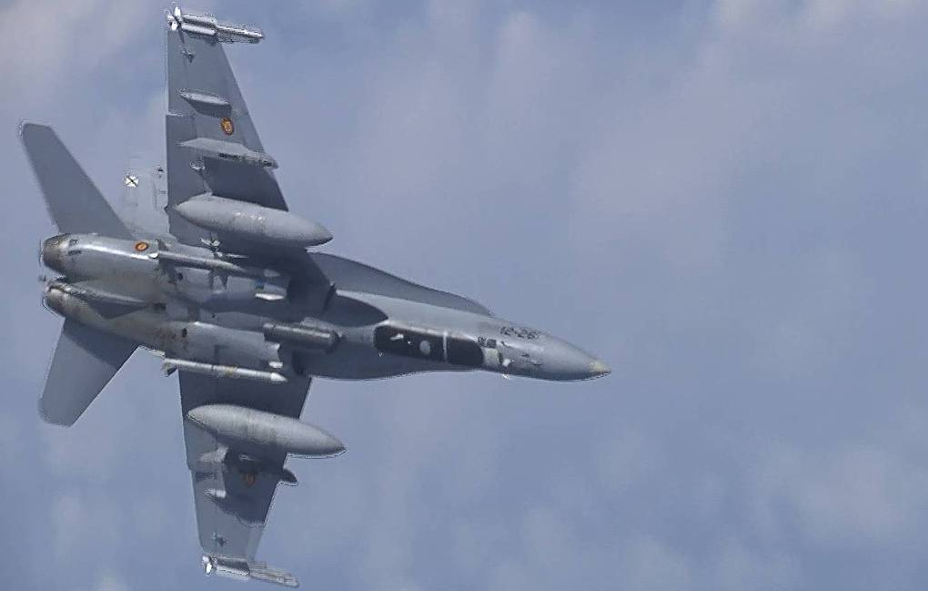 F-18 fighter jet Russian Defense Ministry/TASS