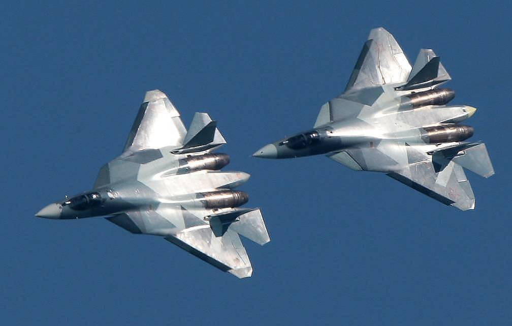 Su-57 fighter jets Sergei Bobylyov/TASS