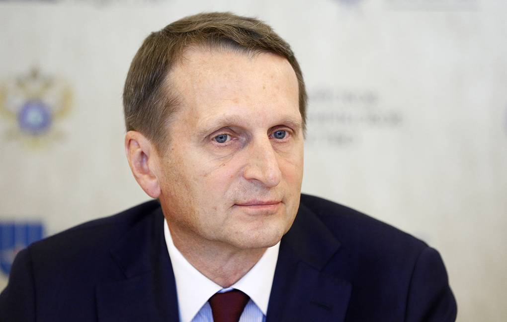 Director of the Russian Foreign Intelligence Service Sergei Naryshkin  Alexander Shcherbak/TASS