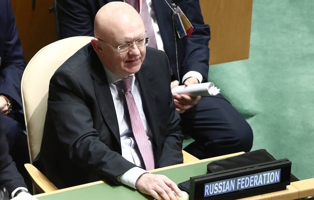Russia's Permanent Representative to the United Nations Vasily Nebenzya Valery Sharifulin/TASS