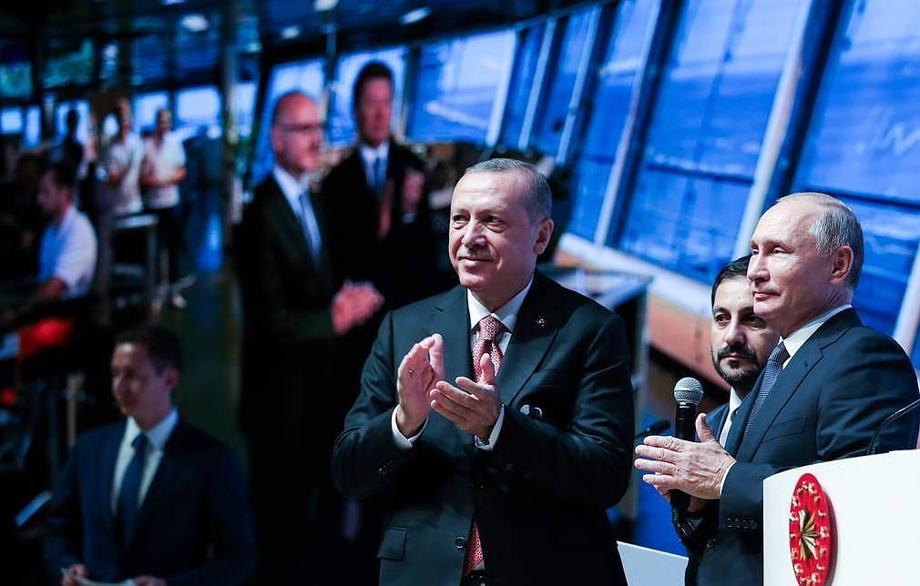Presidents of Turkey and Russia, Recep Tayyip Erdogan (L) and Vladimir Putin Mikhail Klimentyev/Russian Presidential Press and Informatin Office/TASS