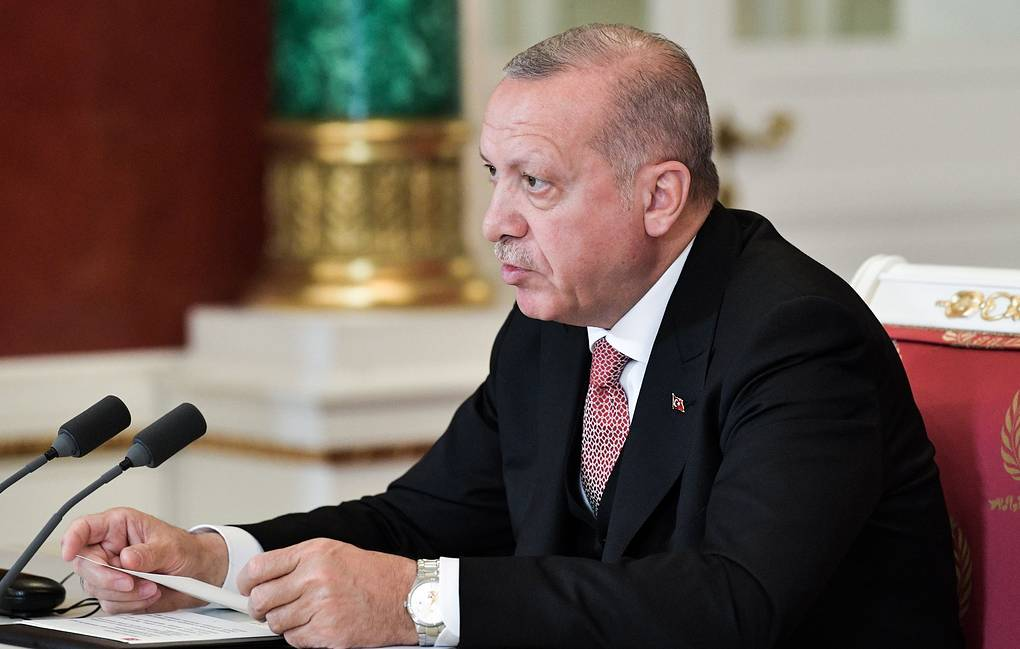 Turkish President Recep Tayyip Erdogan Alexei Nikolsky/Russian Presidential Press and Information Office/TASS