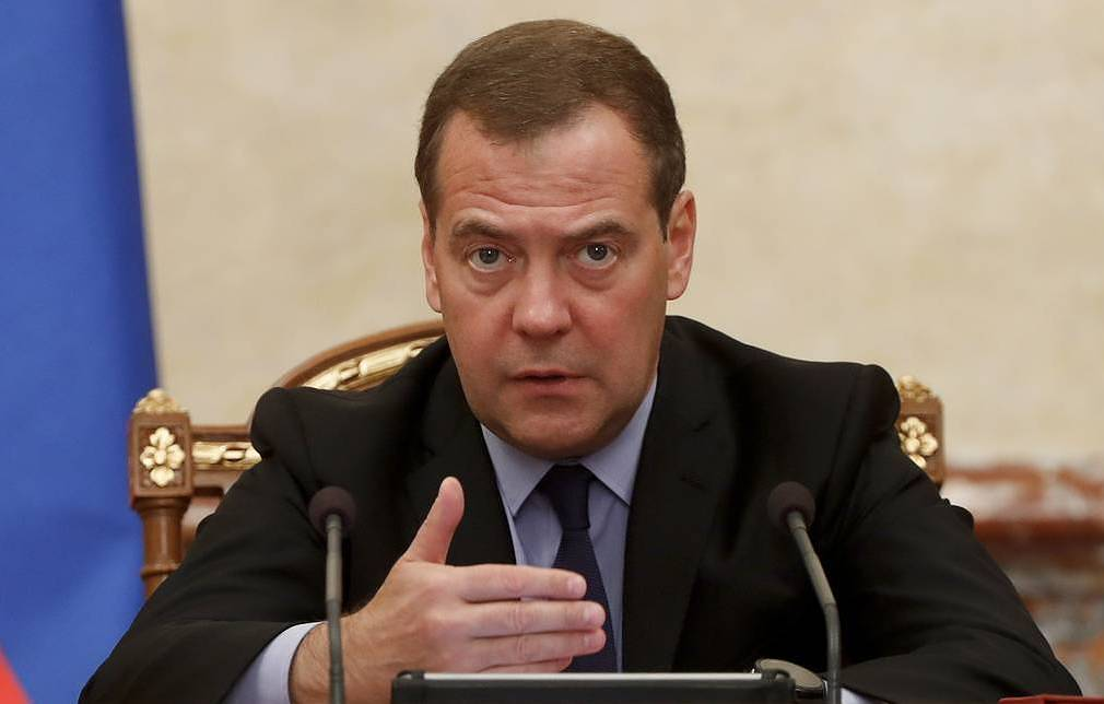 Russian Prime Minister Dmitry Medvedev Dmitry Astakhov / POOL / TASS
