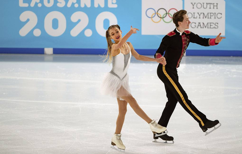 Irina Khavronina and Dario Chirizano  Jed Leicester for OIS via AP
