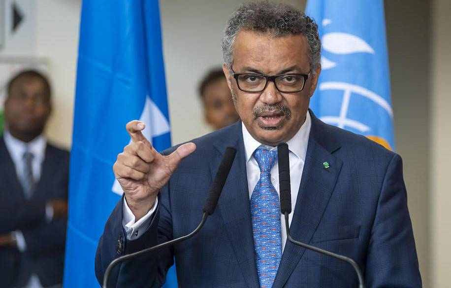 Director-General of the World Health Organization Tedros Adhanom Ghebreyesus EPA-EFE/MARTIAL TREZZINI