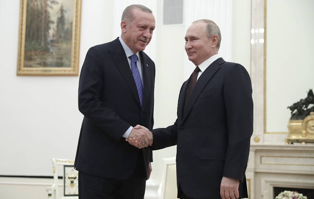 Turkish President Recep Tayyip Erdogan and Russian President Vladimir Putin AP Photo/Pavel Golovkin, Pool