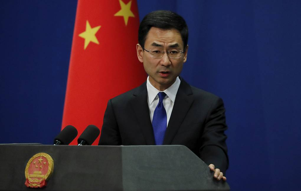 Chinese Foreign Ministry Spokesman Geng Shuang AP Photo/Andy Wong