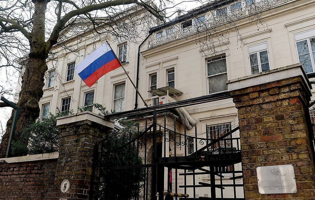 The Russian embassy in the UK EPA/ANDY RAIN